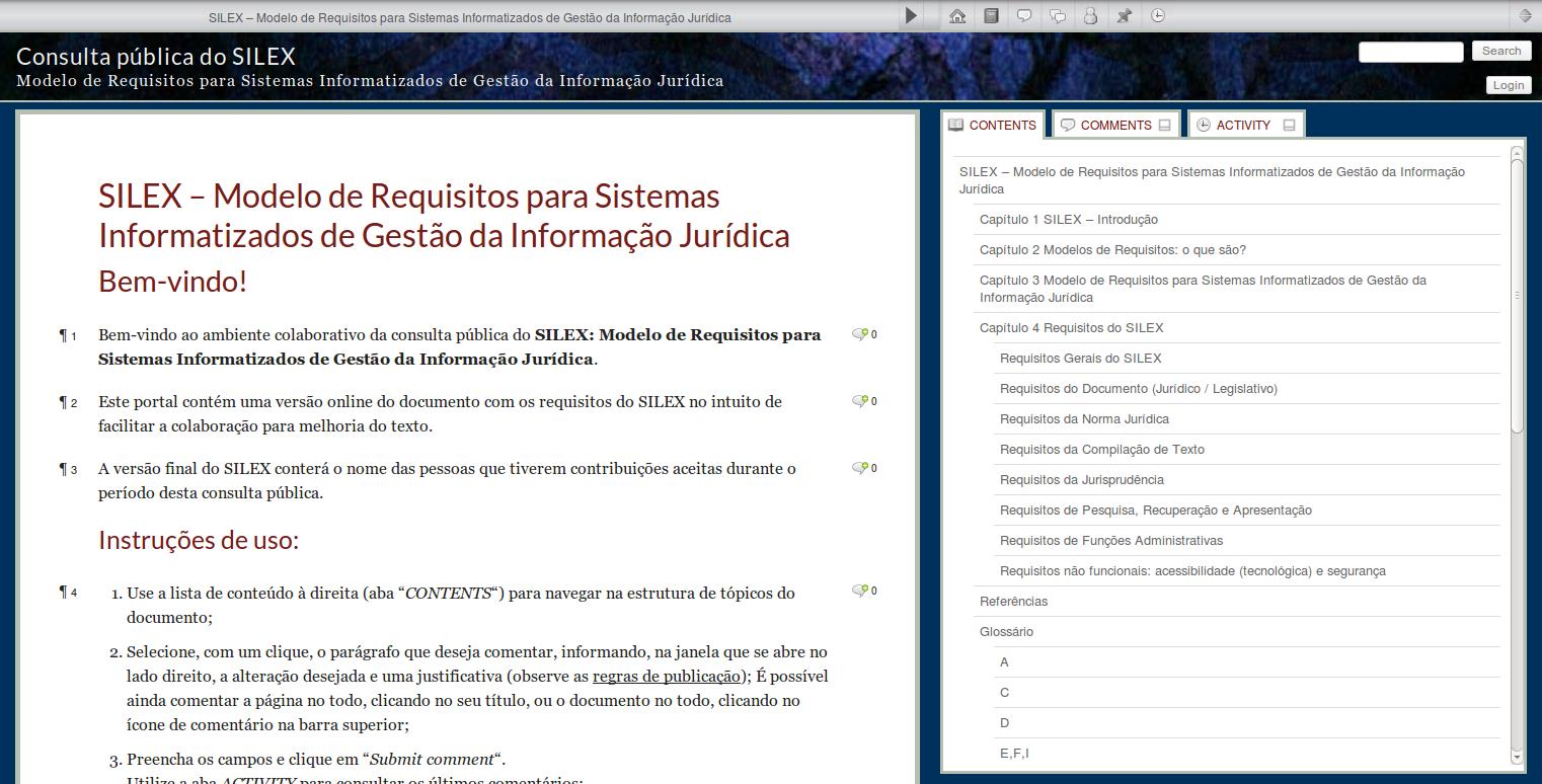 Consulta Pública do SILEX